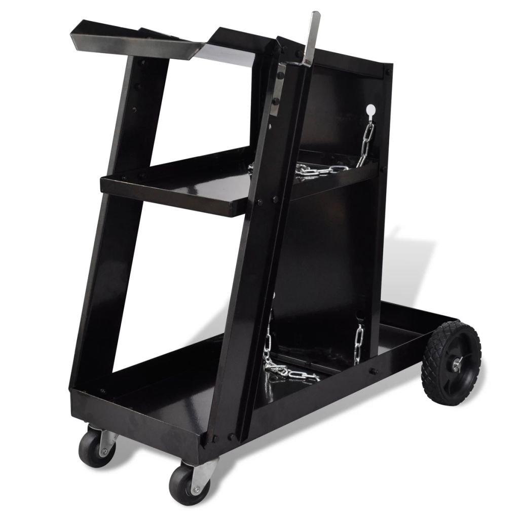 Svářečský vozík / dílenský vozík se 3 policemi | černý