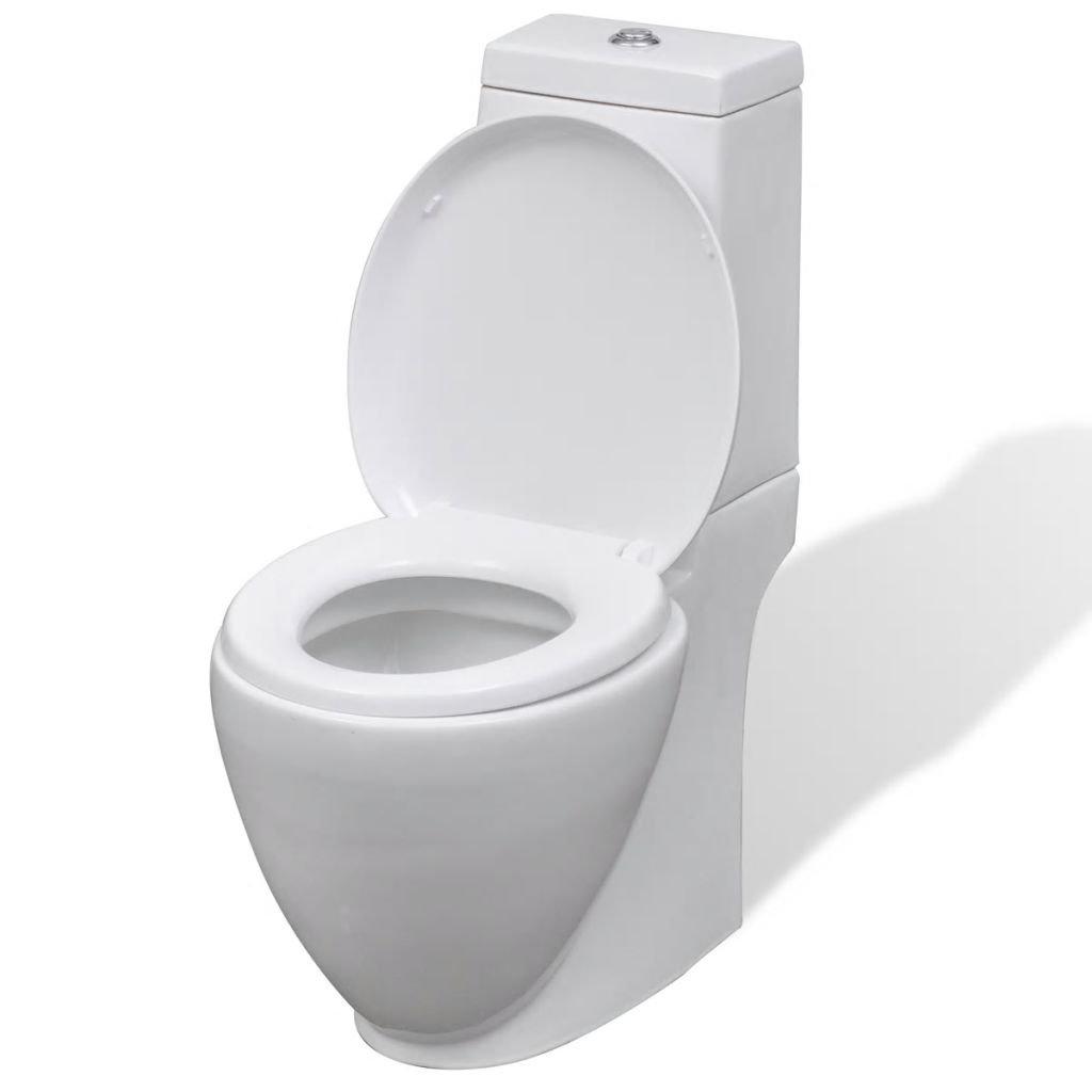 Keramické WC kombi - kulaté | bílé