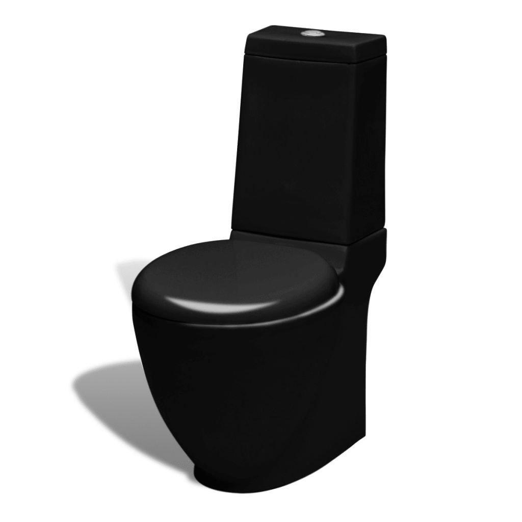 WC keramická kombi mísa s nádržkou | černá
