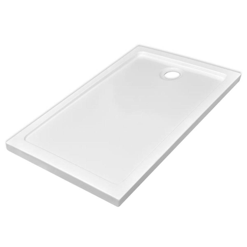 Obdélníková ABS sprchová vanička - bílá | 70x120 cm