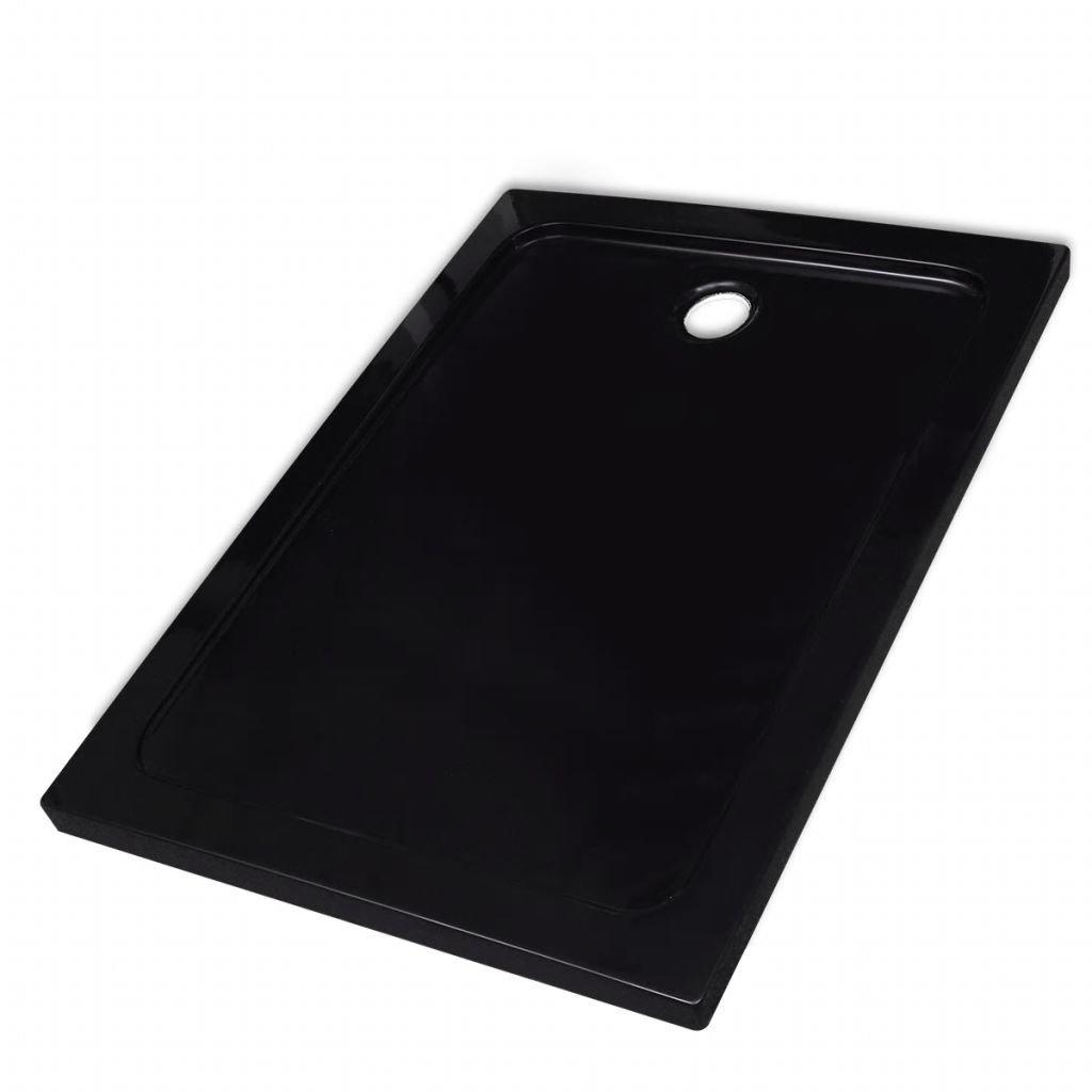Obdélníková ABS sprchová vanička - černá | 80x110 cm
