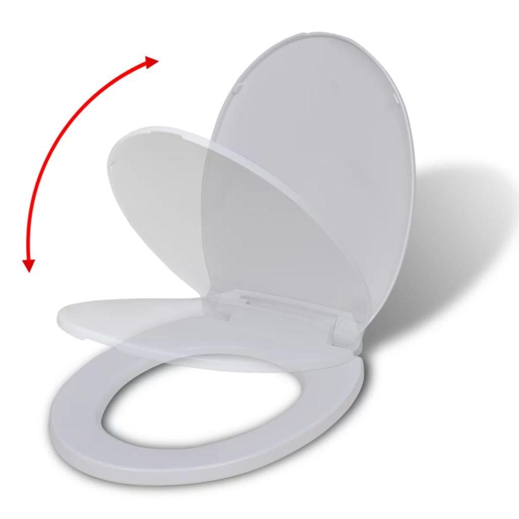 Toaletní sedátko s pomalým sklápěním - oválné | bílé