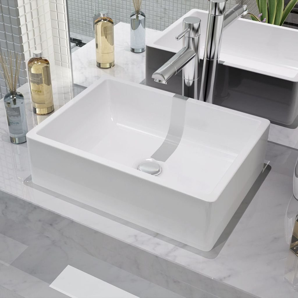 Umyvadlo - keramické - bílé   41x30x12 cm