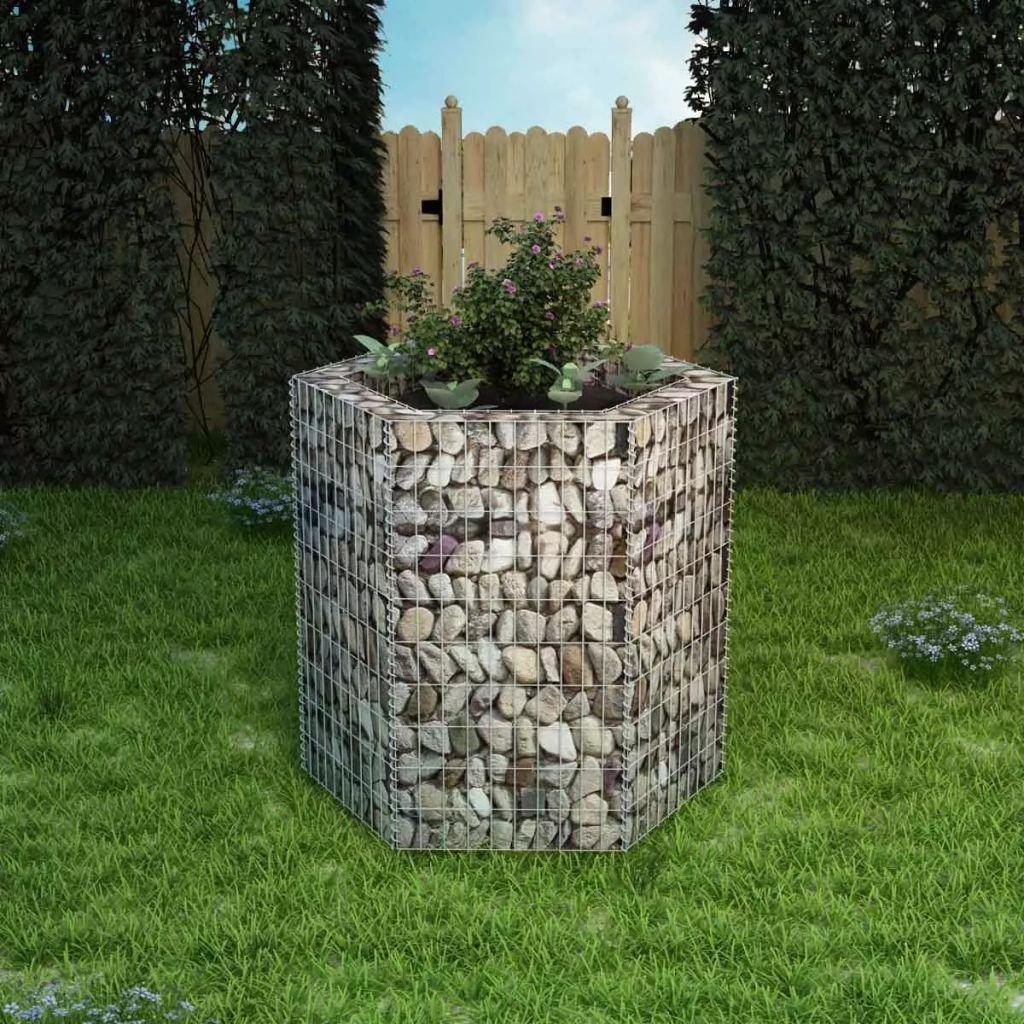 Šestihranný gabionový truhlík | 100x90x100 cm