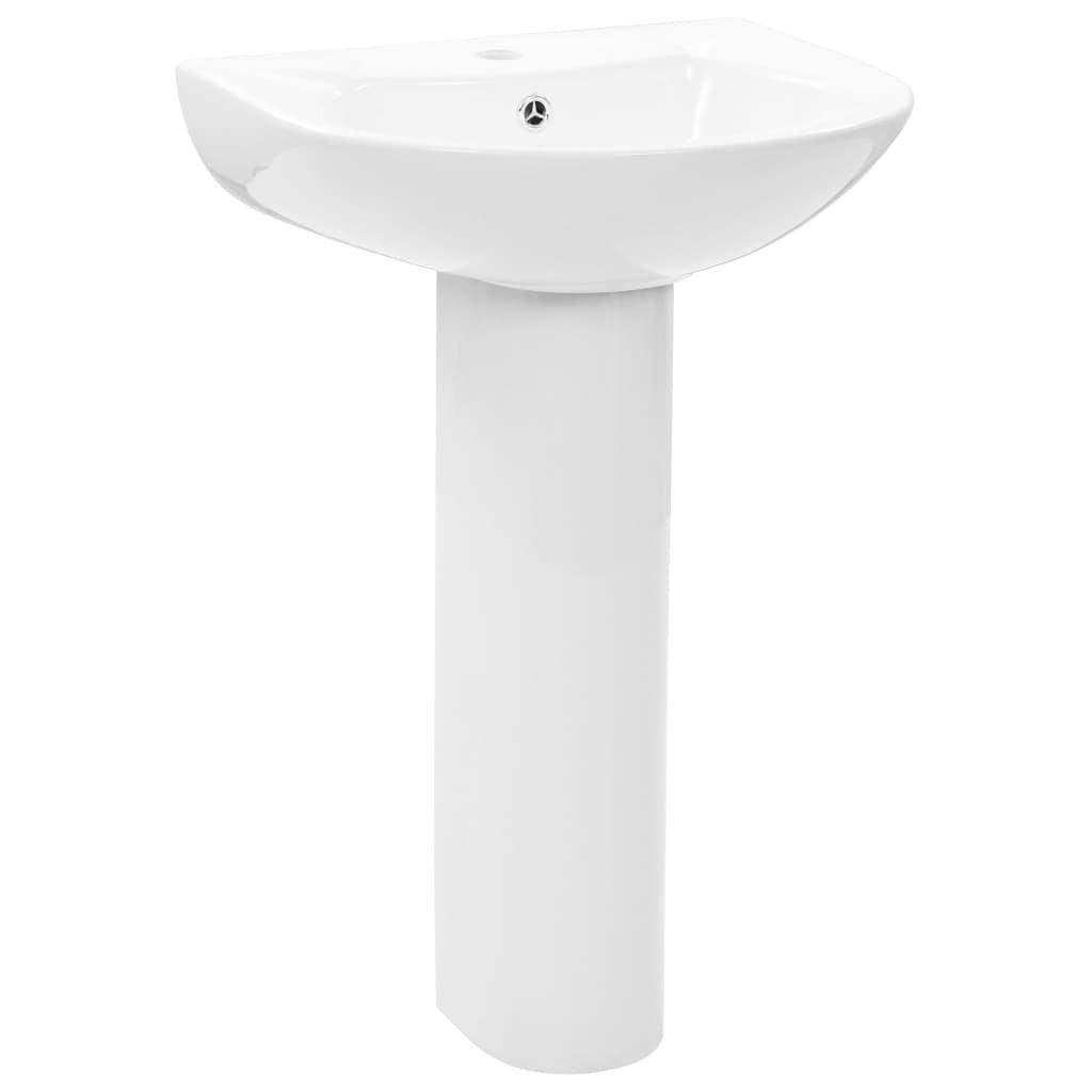 Volně stojící umyvadlo podstavec - keramické - bílé   520x440x190 mm