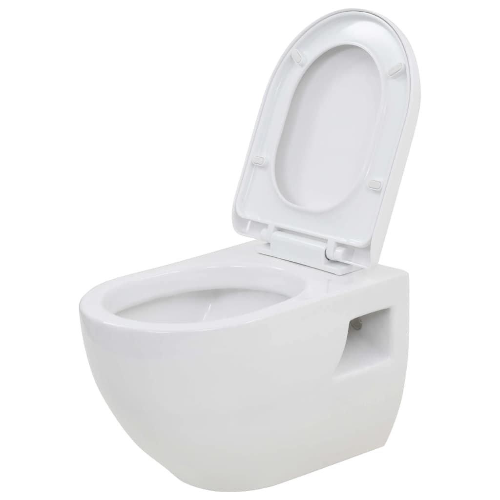 Závěsná toaleta - keramická | bílá