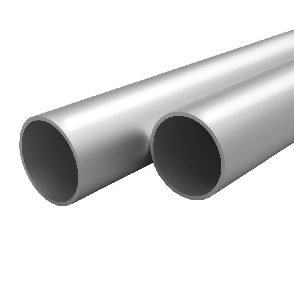 Hliníkové trubky - kulaté - 4 ks | 1 m Ø25x2 mm