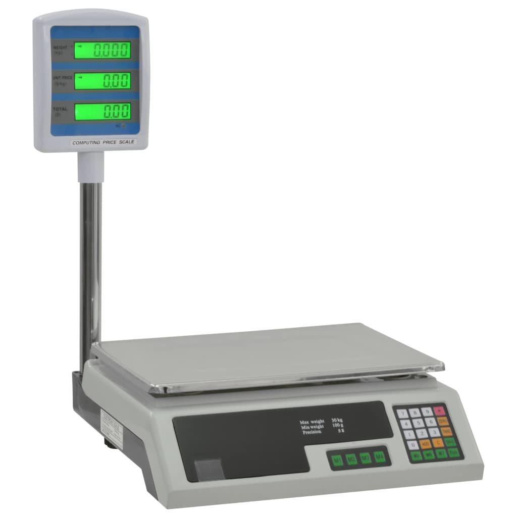 Digitální váha na balíky s LCD displejem 30 kg