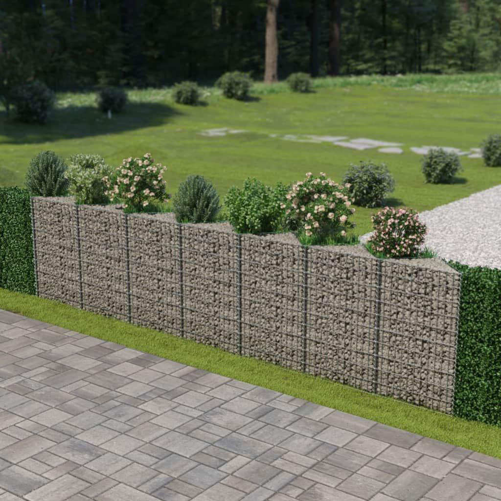 Gabionová zeď z pozinkované oceli   450x30x100 cm