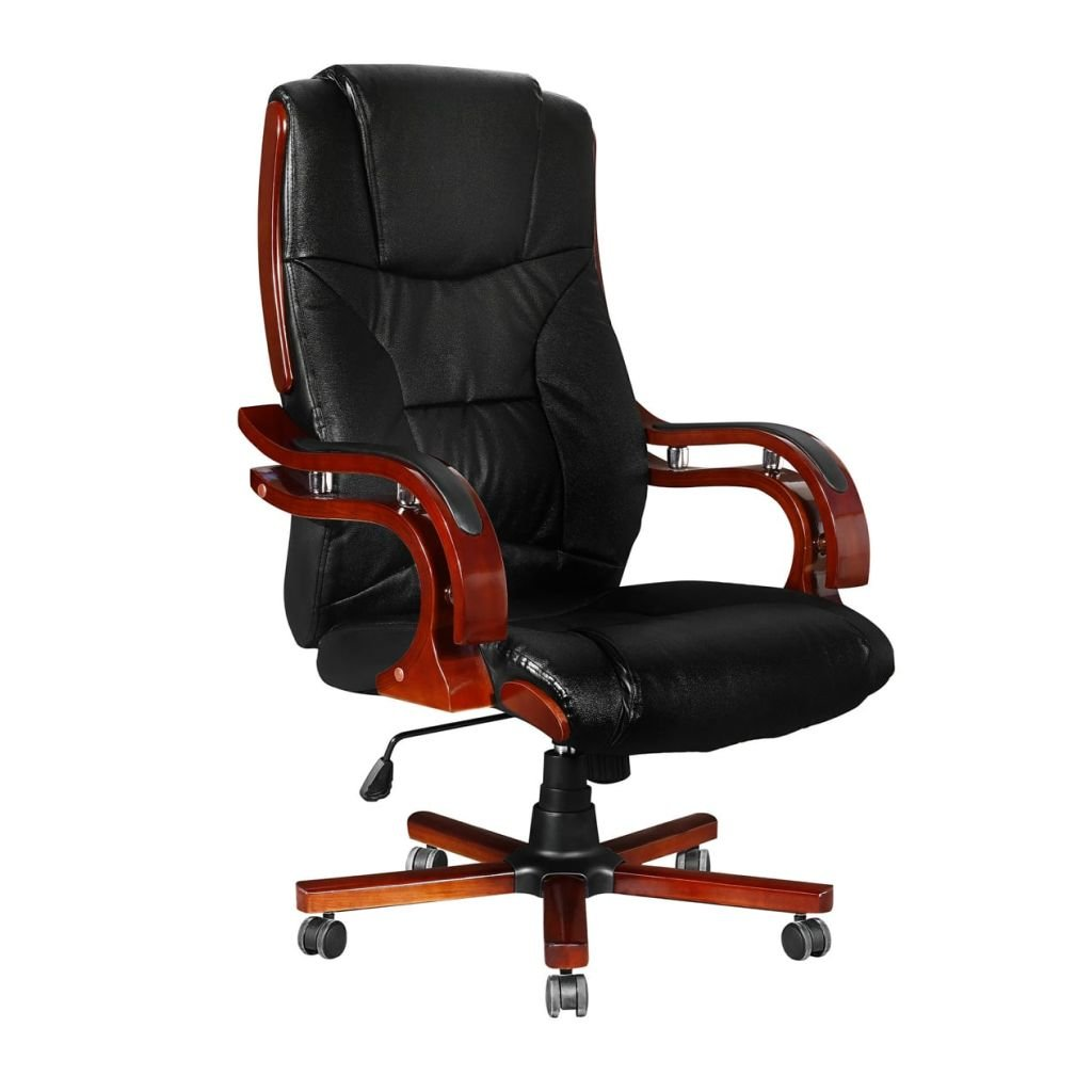 Kožená manažerská židle s vysokou opěrkou zad