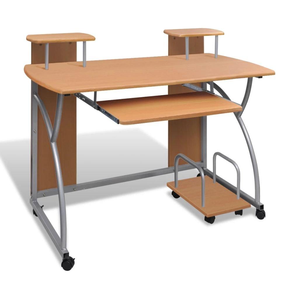 Multifunkční hnědý počítačový stůl