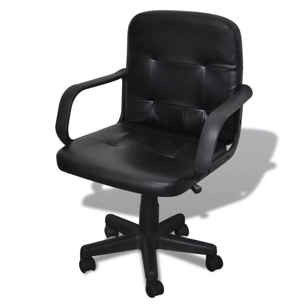 Luxusní kancelářská židle - kvalitní design - černá | 59x51x81-89 cm