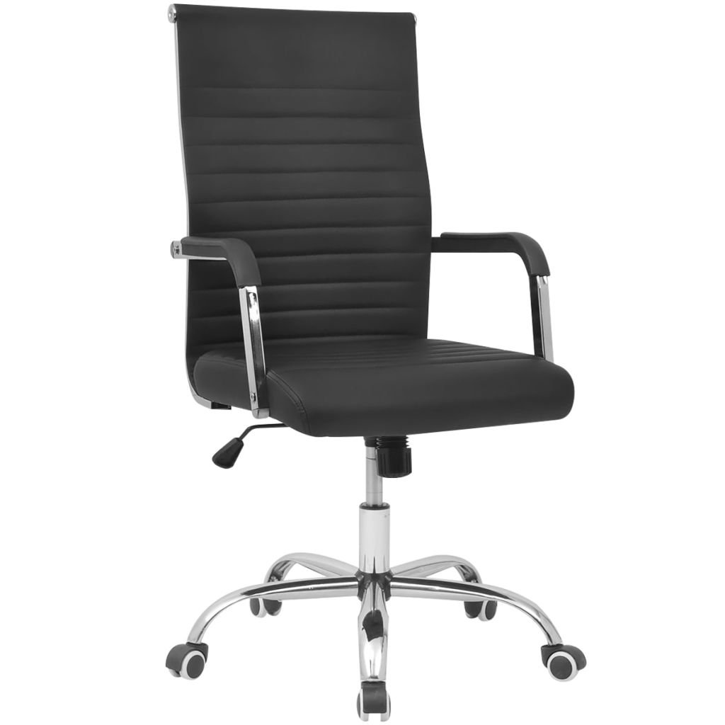 Kancelářská židle z umělé kůže - 55x63 cm | černá