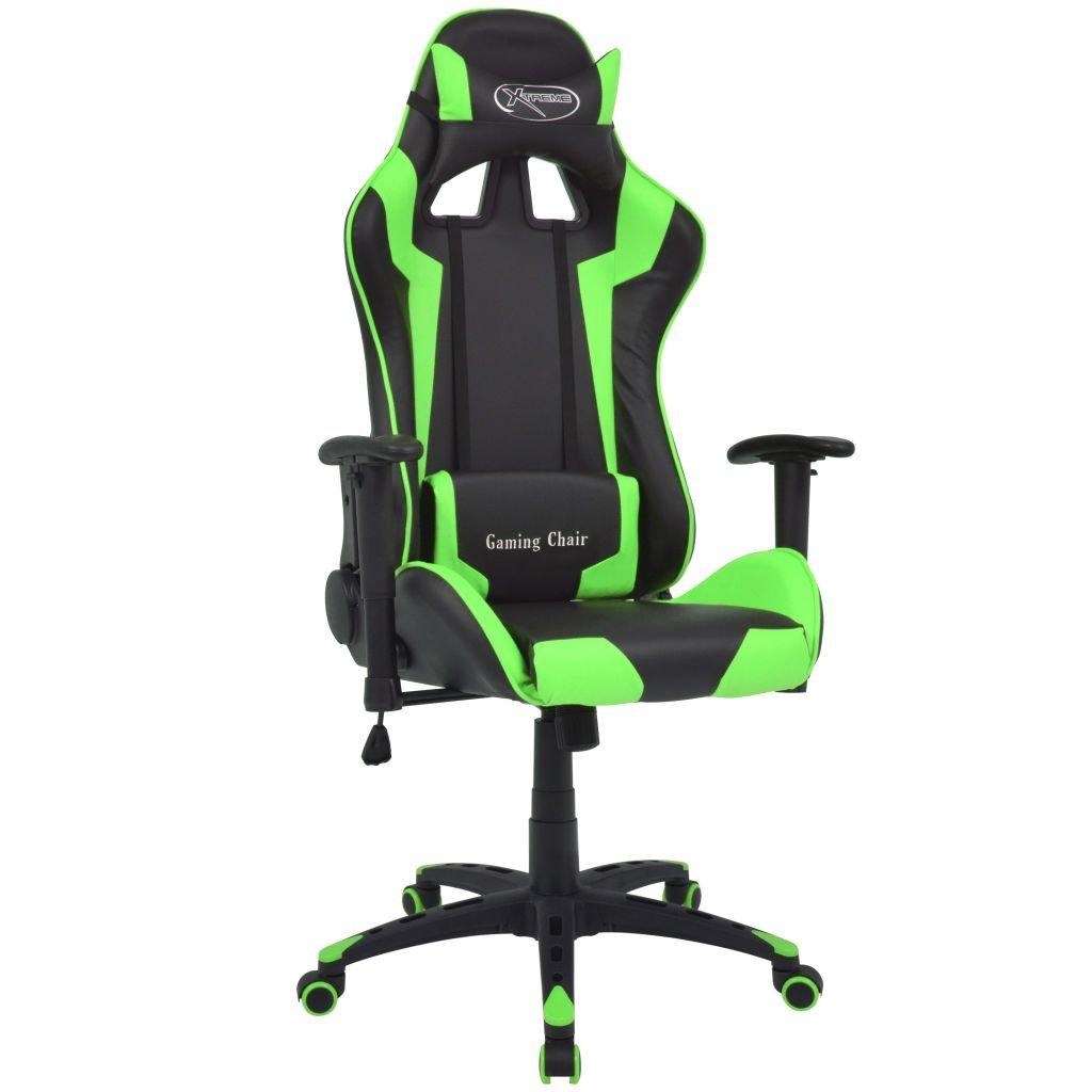 Polohovatelné kancelářsk / herní křeslo - umělá kůže | zelená