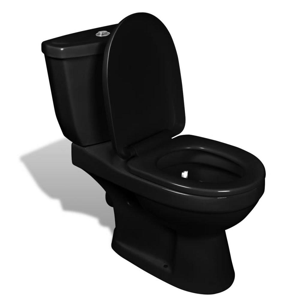 Černé WC s cisternou | keramika