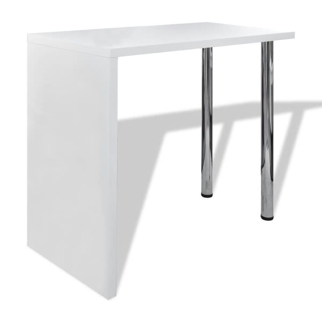Barový / jídelní stůl s 2 nohami | bílý