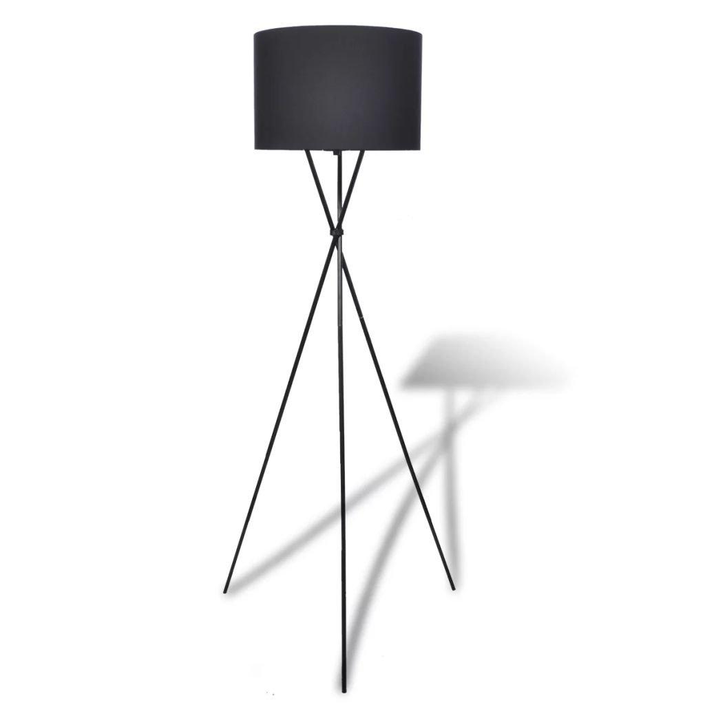 Stojací lampa s vysokým stojanem | černá