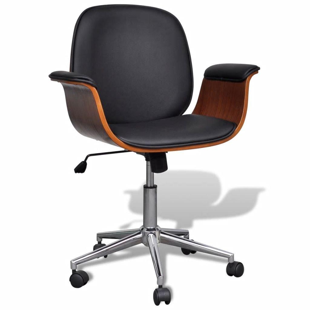 Koženková moderní otočná židle /křeslo - výškově nastavitelná