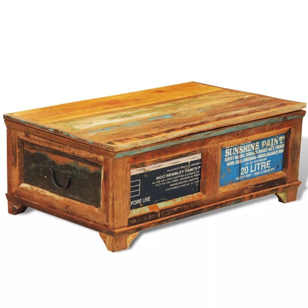 Úložný box/konferenční stolek z recyklovaného dřeva | vintage styl