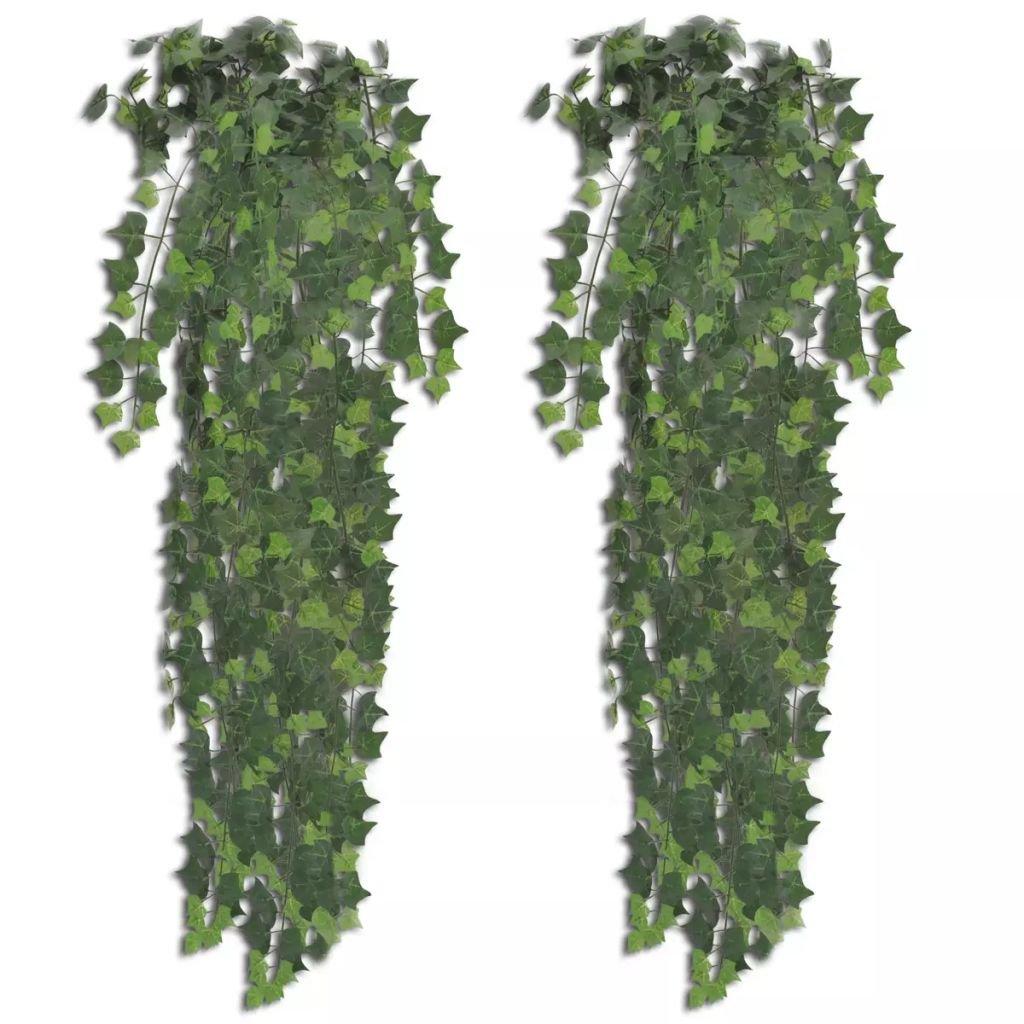 Zelený umělý břečťanový keř - 2 ks | zelený