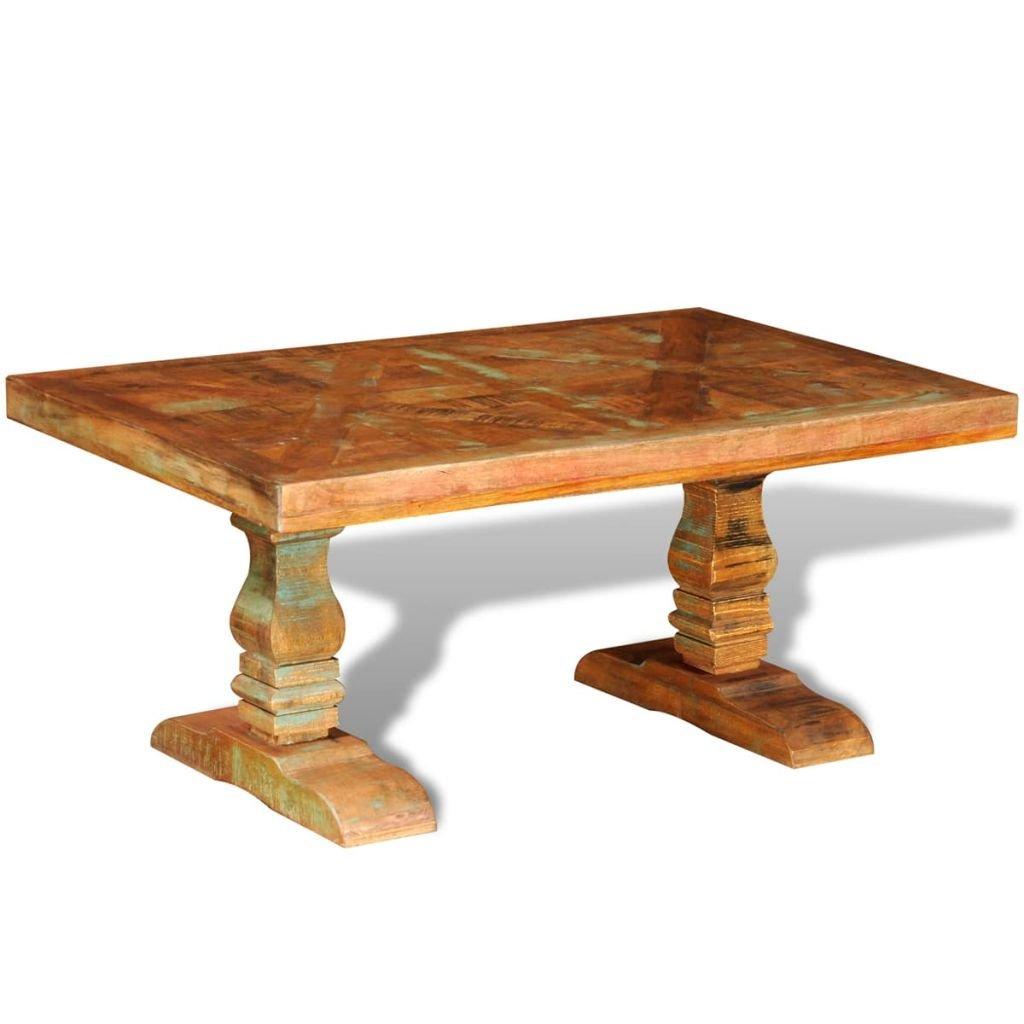 Konferenční stolek z recyklovaného masivního dřeva | starožitný styl
