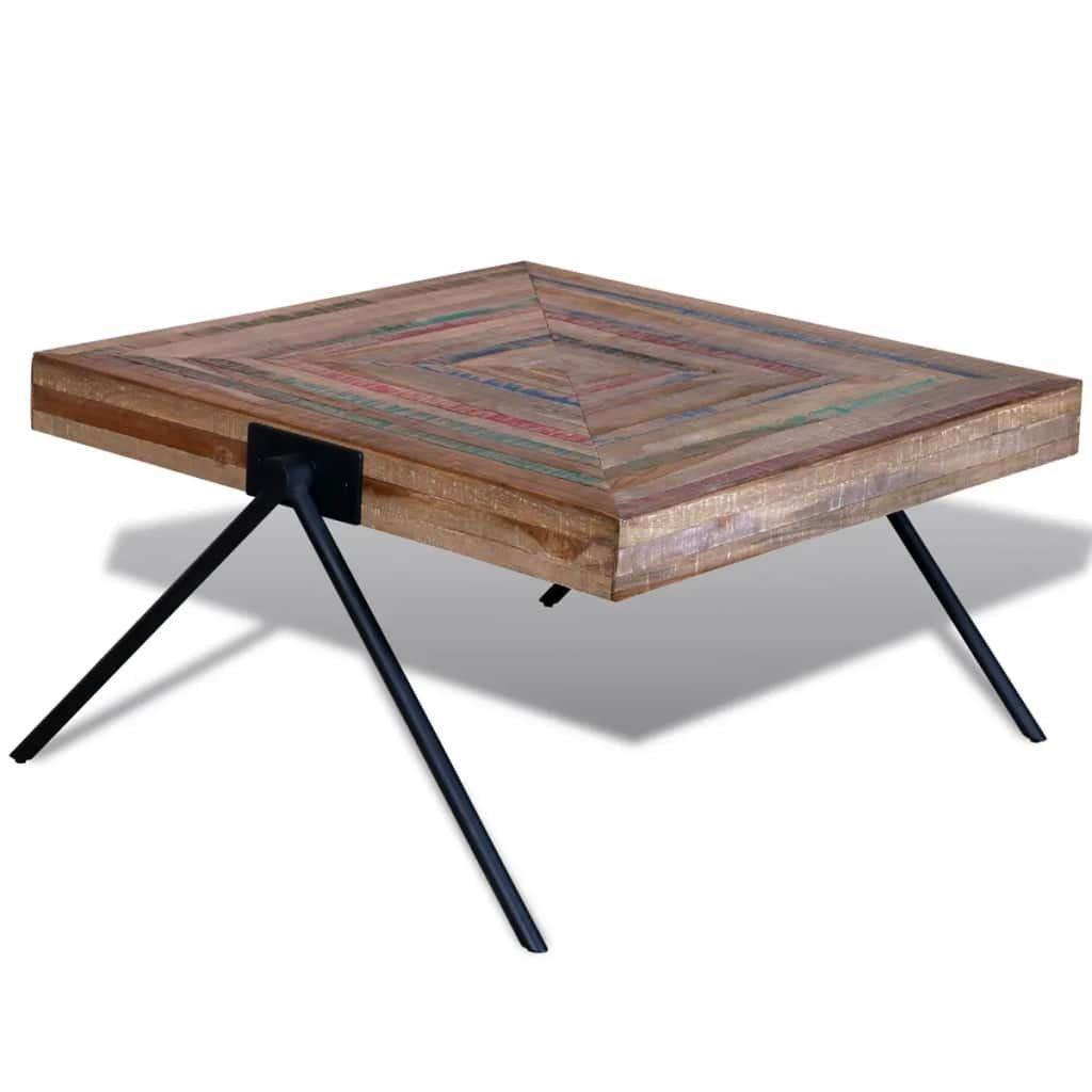 Konferenční stolek s nohami do V   regenerovaný teak