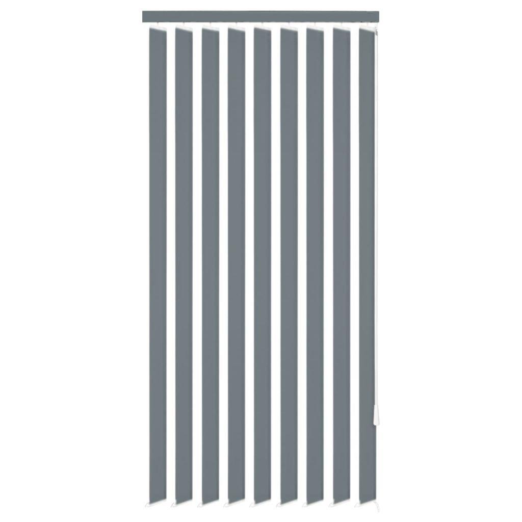 Vertikální žaluzie - látkové PVC - šedé | 120x250 cm
