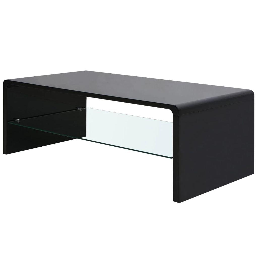 Vysoce lesklý konferenční stolek | černý