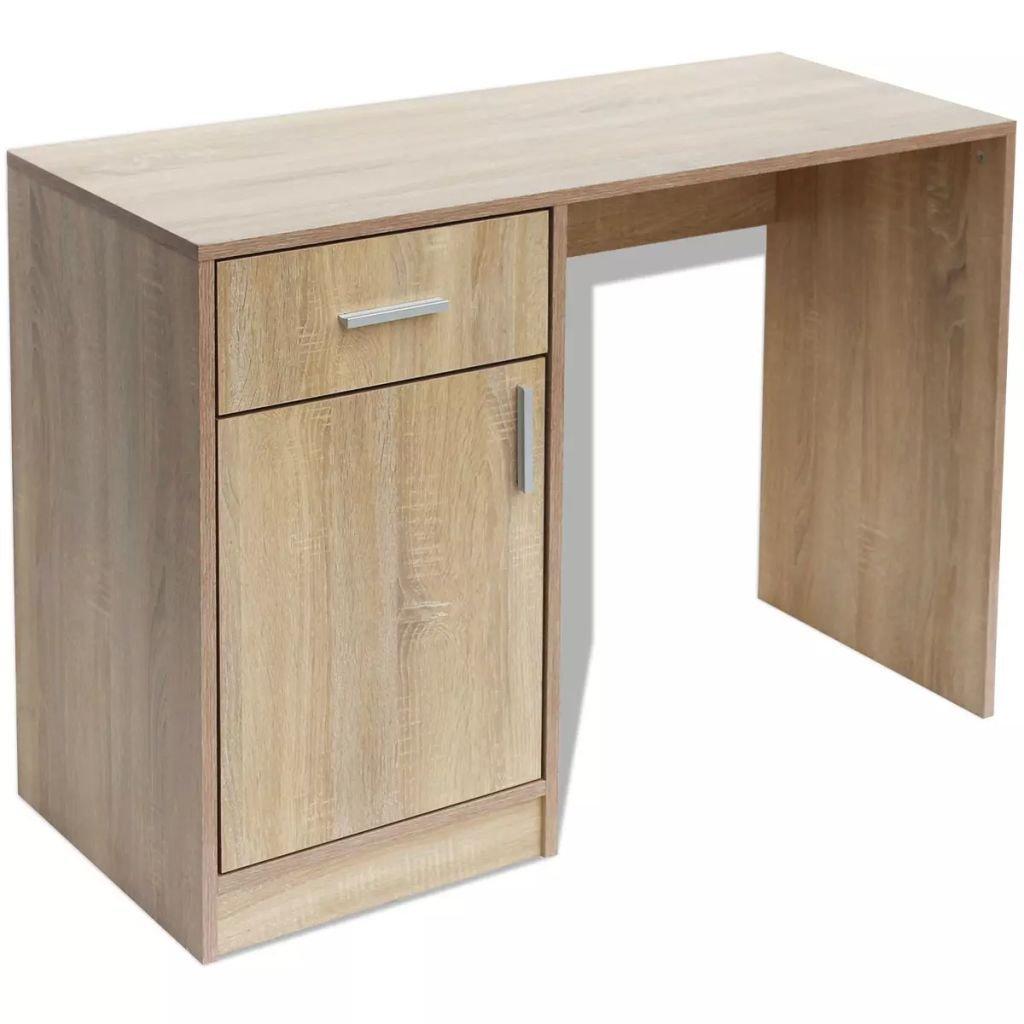 Psací stůl se zásuvkou a skříňkou - dub | 100x40x73 cm