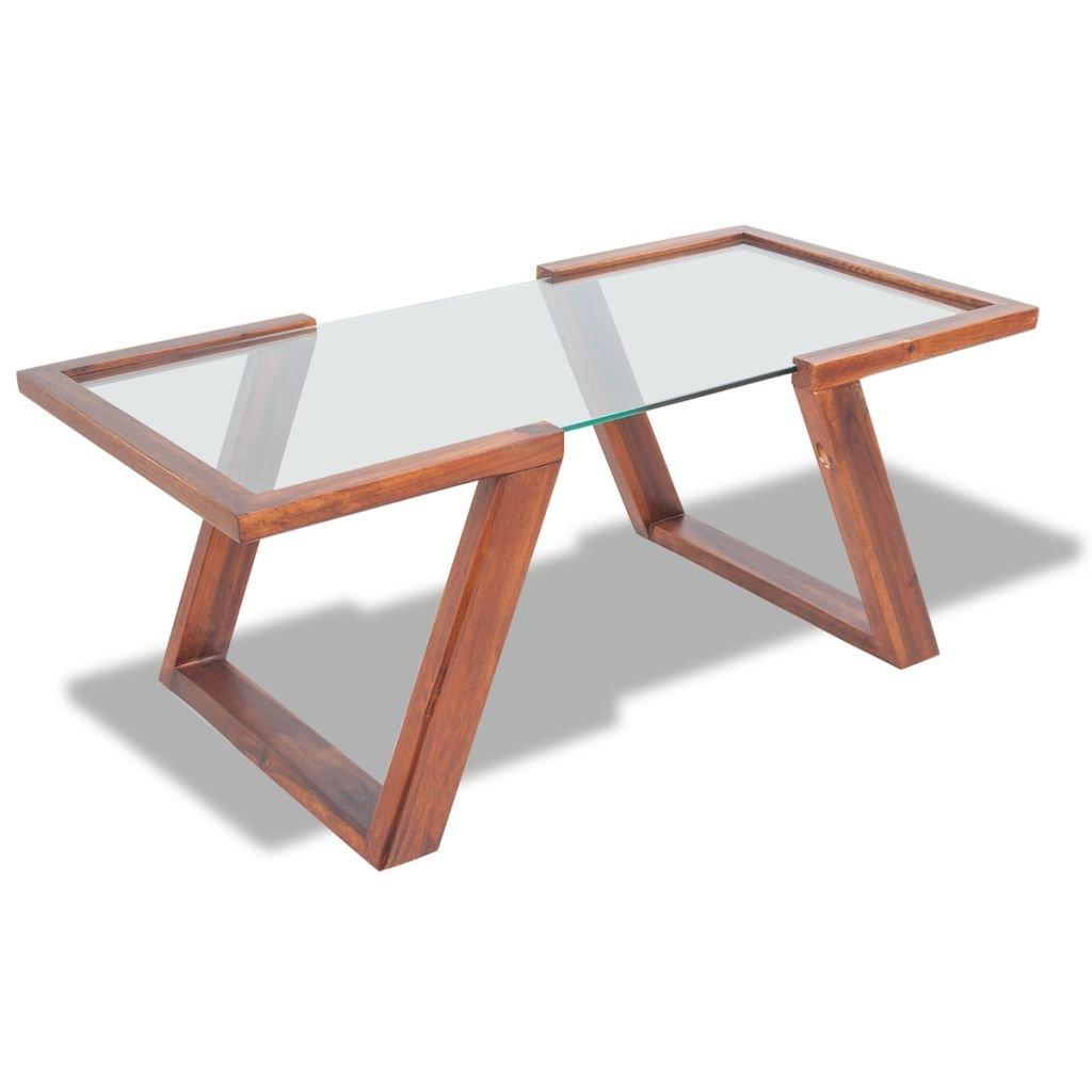 Konferenční stolek - masivní akáciové dřevo | 100x50x40 cm