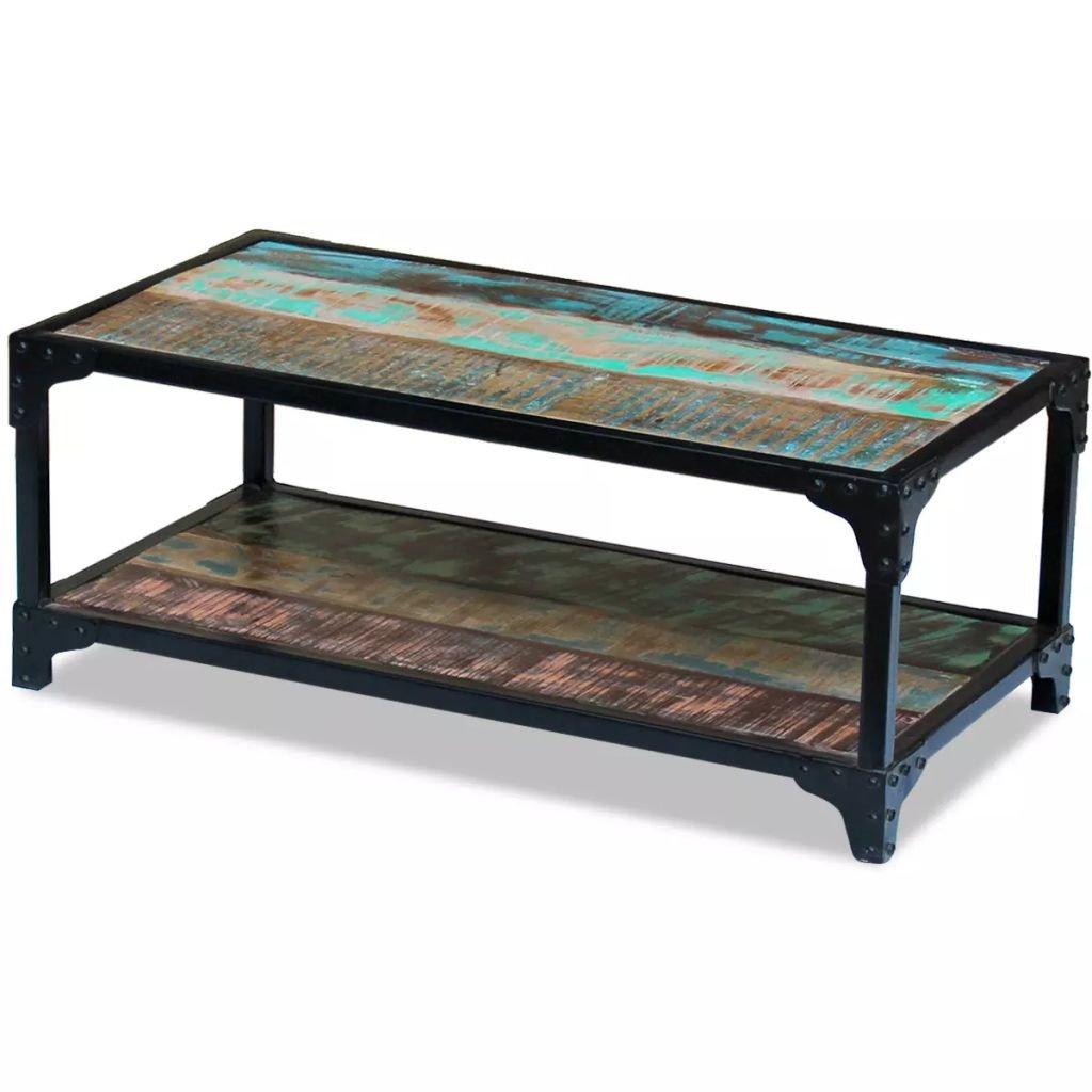 Konferenční stolek Volta z masivního recyklovaného dřeva