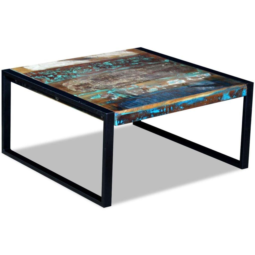 Konferenční stolek - masivní recyklované dřevo   80x80x40 cm