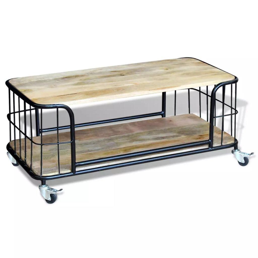 Konferenční stolek - masivní mangovníkové dřevo | 100x50x35 cm