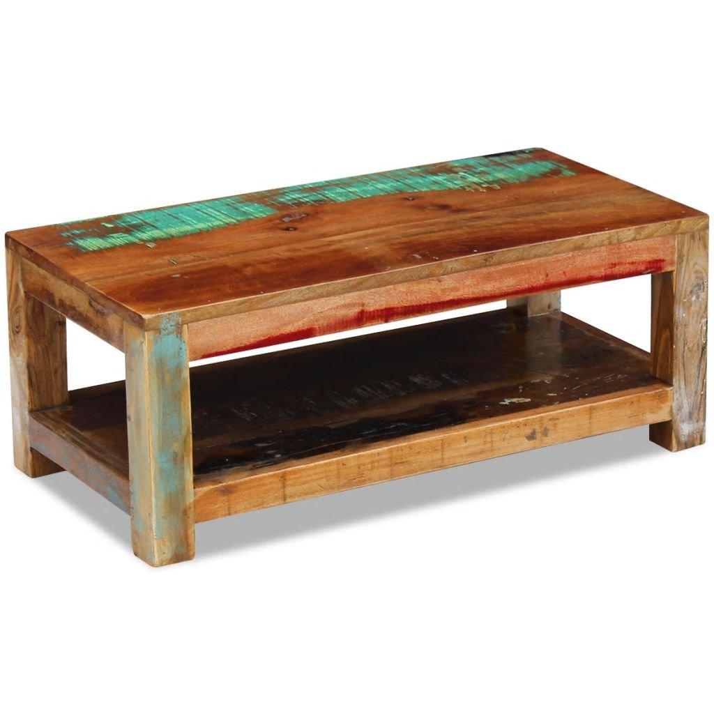 Konferenční stolek - masivní regenerované dřevo   90x45x35 cm