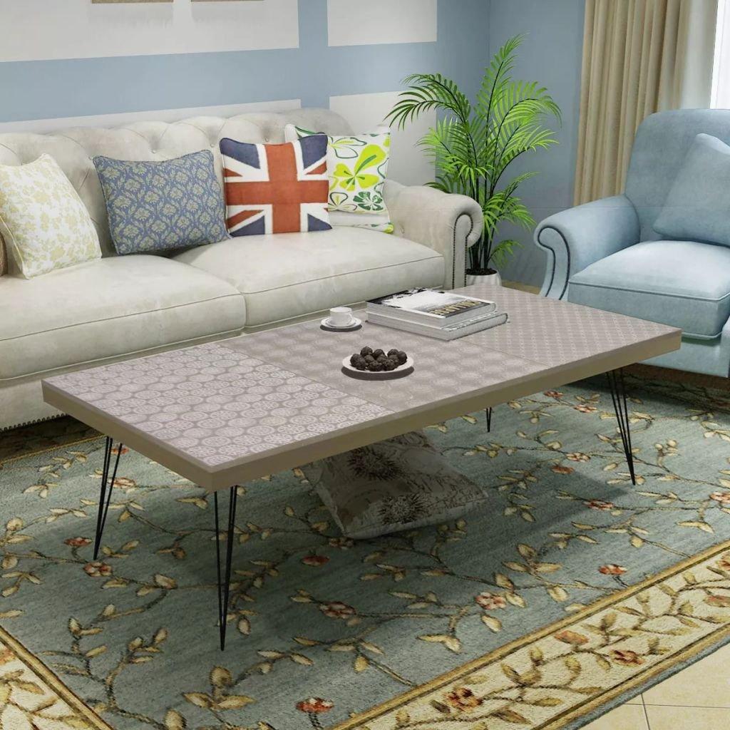 Konferenční stolek - 120x60x38 cm | šedý