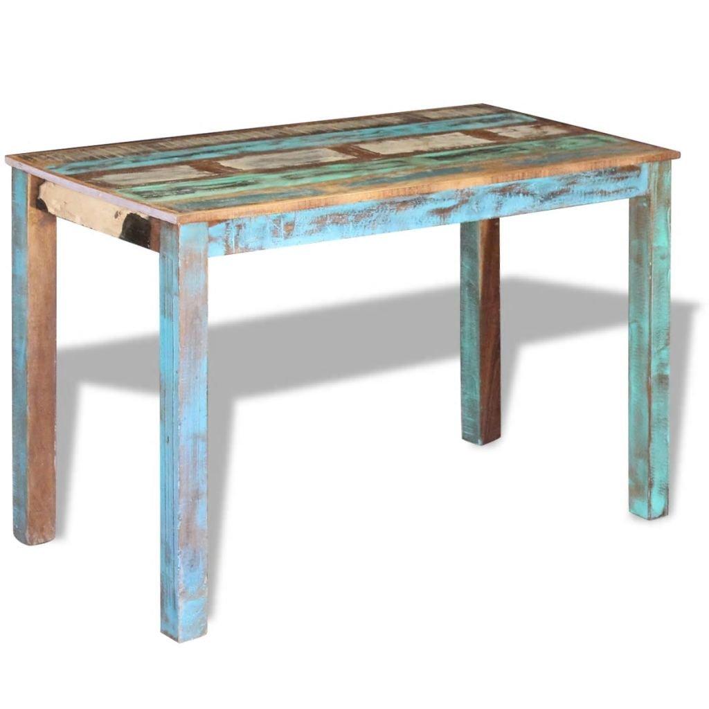 Jídelní stůl z masivního recyklovaného dřeva | 115x60x76 cm