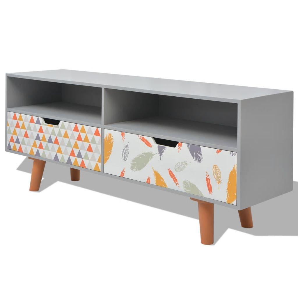 TV stolek - MDF - šedý   120x30x50 cm