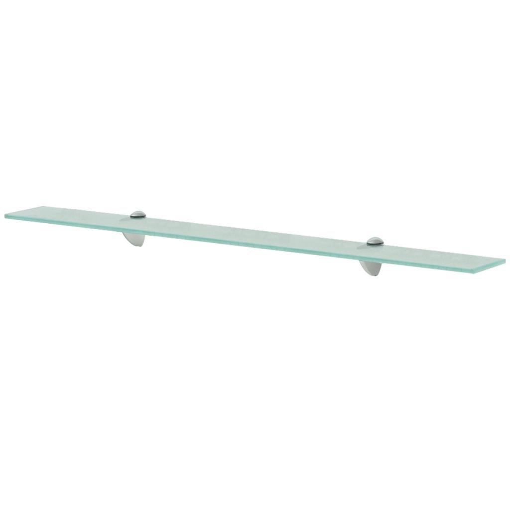 Plovoucí skleněná police | 90x20 cm 8 mm