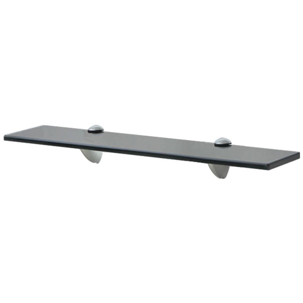 Plovoucí skleněná police - černý | 50x20 cm 8 mm