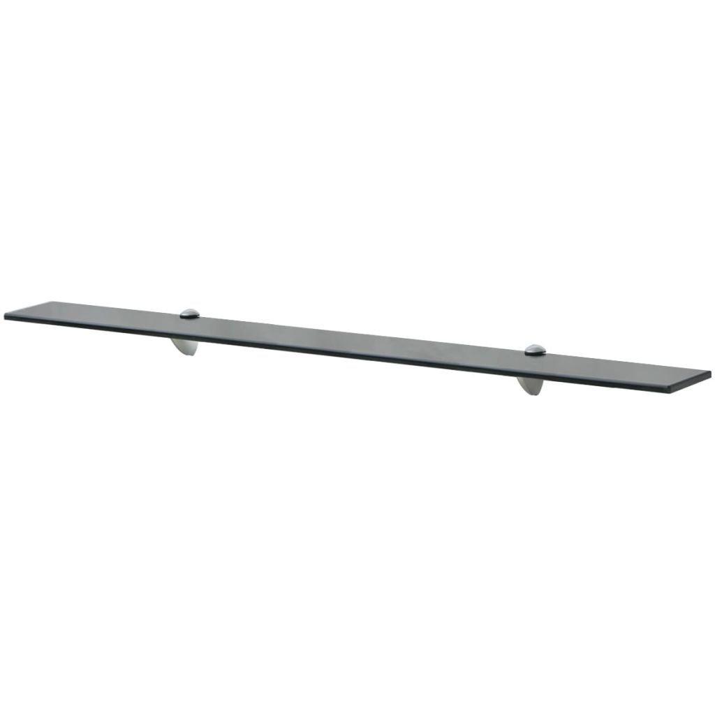 Plovoucí skleněná police - černý   100x20 cm 8 mm