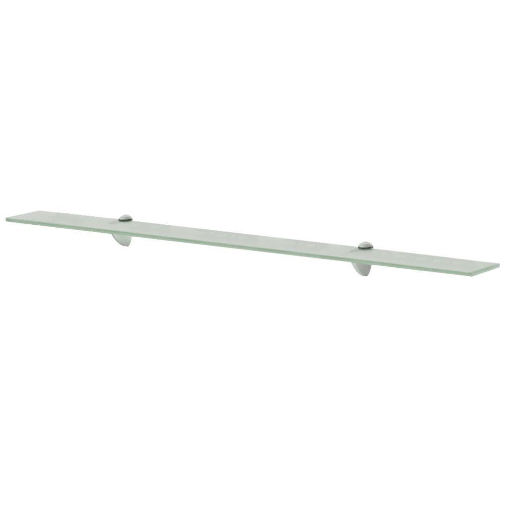Plovoucí skleněná police - matný | 100x20 cm 8 mm