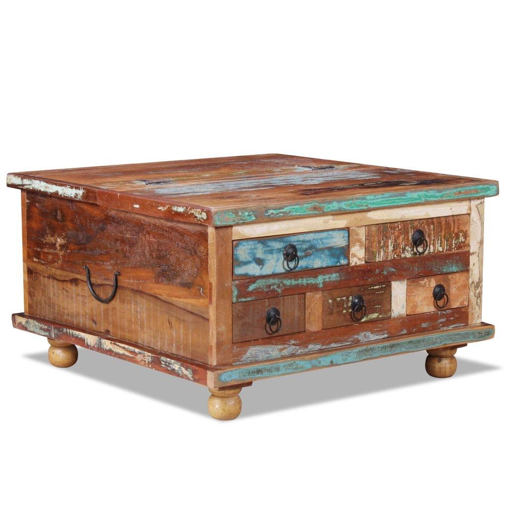 Konferenční stolek - recyklované dřevo   70x70x38 cm