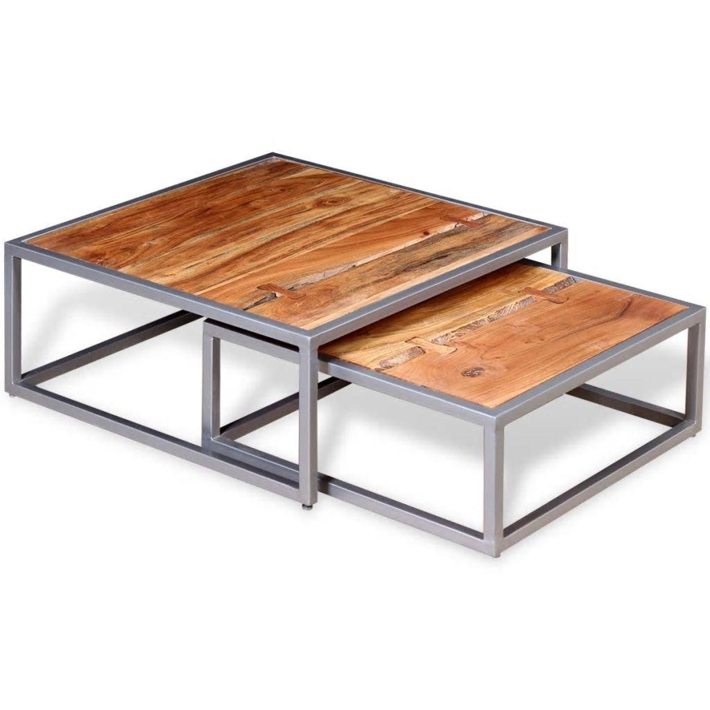Dva konferenční stolky z masivního akáciového dřeva