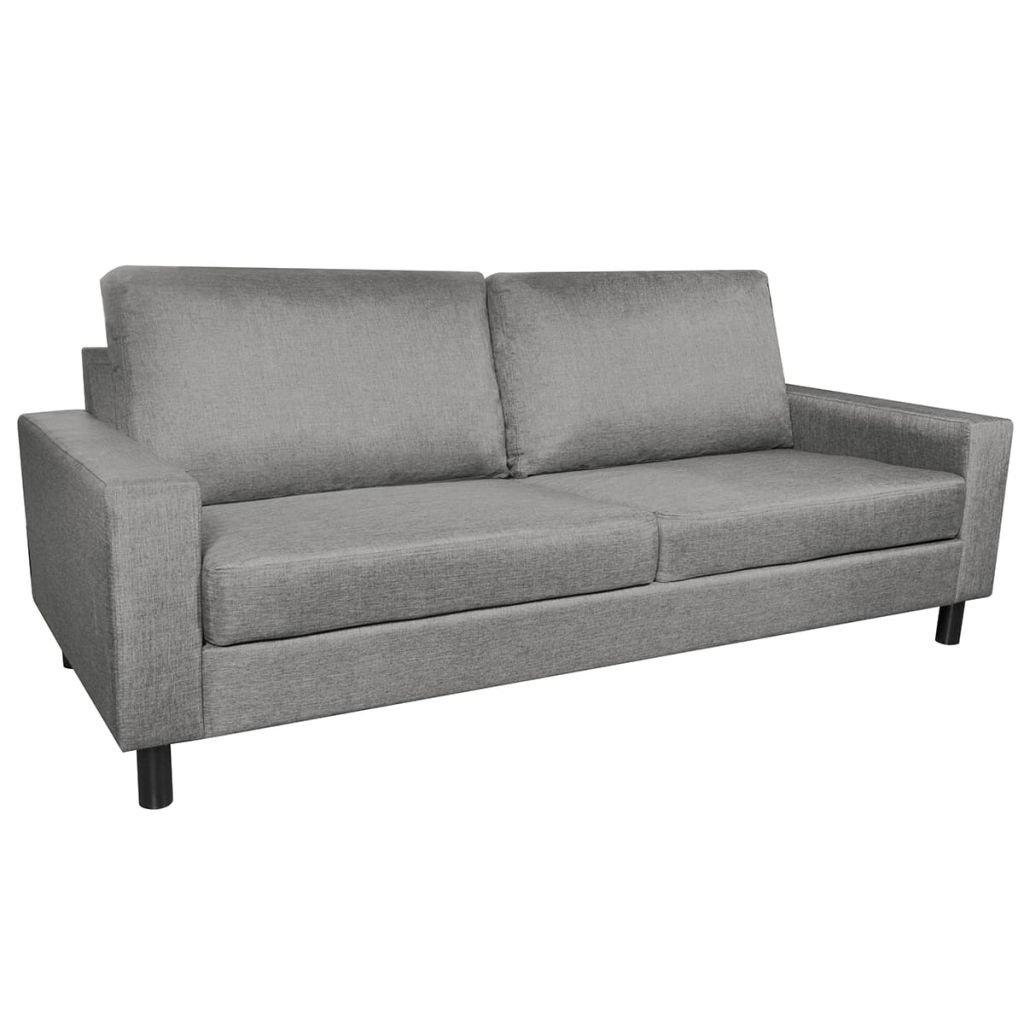 Trojmístná sedačka - textilní | světle šedá