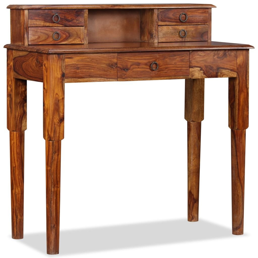 Psací stůl Ewing s 5 zásuvkami - masivní sheesham   90x40x90 cm