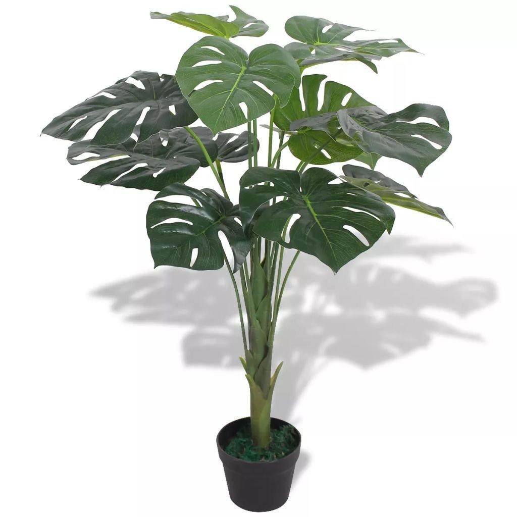Umělá rostlina monstera s květináčem - 70 cm | zelený