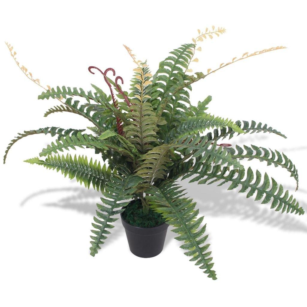 Umělá rostlina kapradina s květináčem - 60 cm   zelená