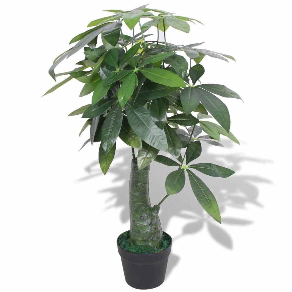 Umělá rostlina pachira s květináčem - 85 cm | zelená