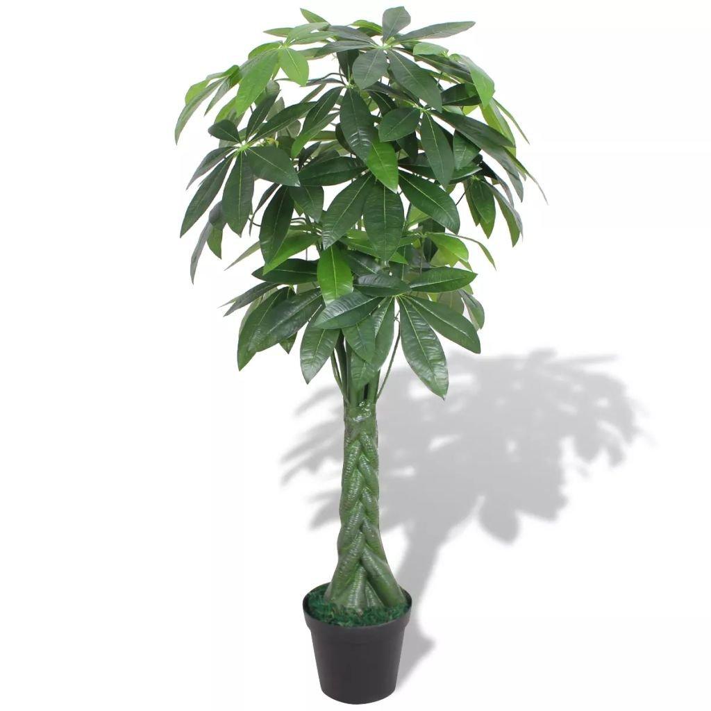 Umělá rostlina pachira s květináčem - 145 cm | zelená