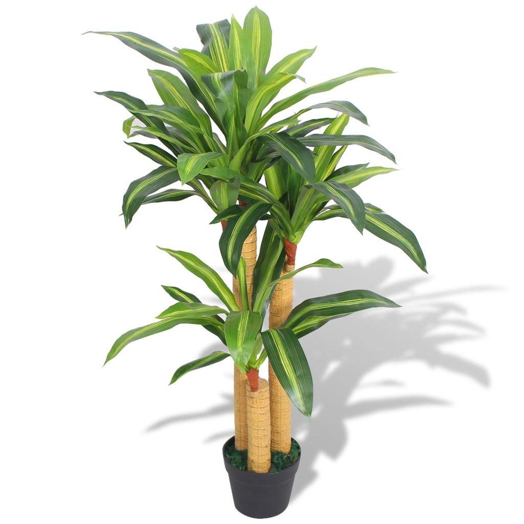 Umělá rostlina dracéna s květináčem - 100 cm | zelená
